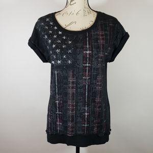Rock & Republic Shirt Stars & Stripes Sz Small